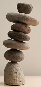 delicately balanced