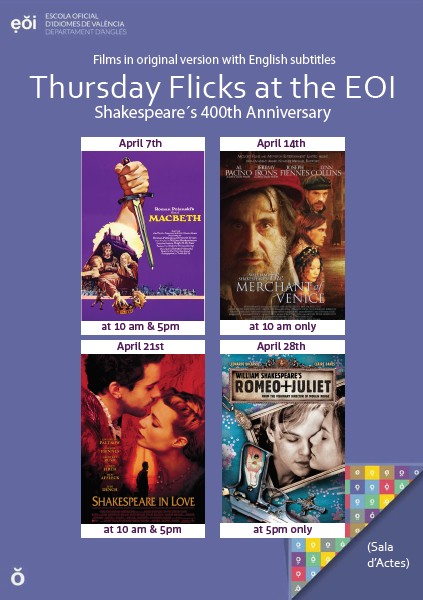 thursday flicks april