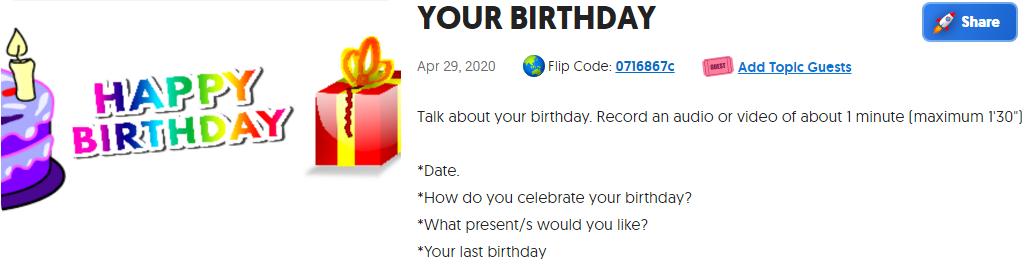 birthday flipgrid